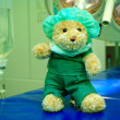 Stock Photo: Teddy bear in operation room