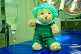 Teddy bear in the operation room — Stock Photo