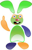 Green funny rabbit — Stock Photo