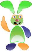 Yeşil komik tavşan — Stok fotoğraf