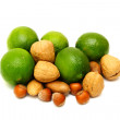 Green laime with nuts — Stock Photo