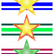 Vector star set — Stock Photo