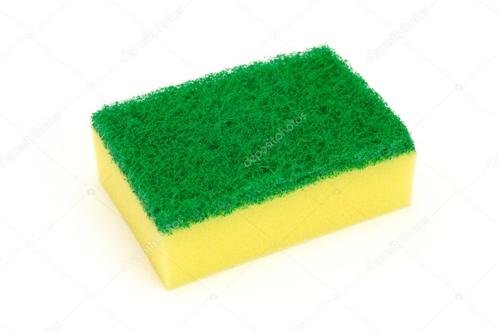 Sponge group isolated on the white background — Stock Photo #5172355