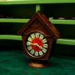 Old wooden alarm clock — Stockfoto
