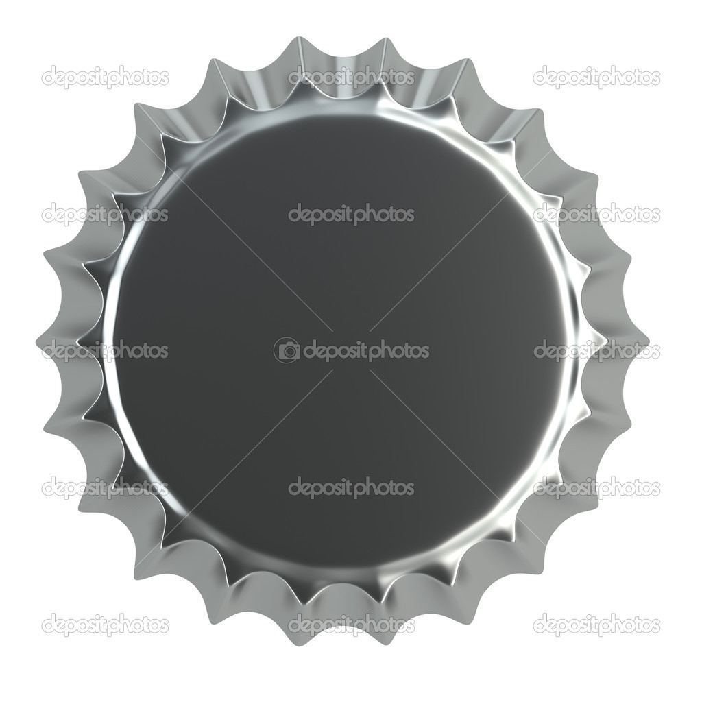 Metallic bottle cap 3d illustration  isolated on white  Stock Photo #5332371