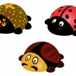 Illustration of ladybird, bug, spider — Stock Photo
