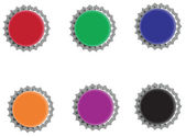 Colorful bottle caps — Stock Photo