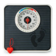 Stock Photo: Scale with heart
