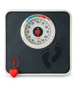 The scale with heart — Stock Photo