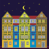 Dream house at night — Stock Photo