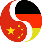 Deutsch-chinesischen Beziehung — Stockfoto