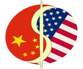 USA relationship with China — Stock Photo