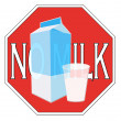 Stock Photo: Milk intolerance