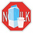 Milk intolerance — Stock Photo