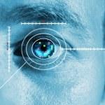 Iris eye scan — Stock Photo