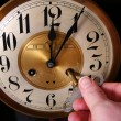 Stock Photo: Clock vintage midnight