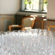 Champagne glasses reception — Stock Photo