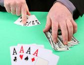 Gambling win and lose — Stock Photo
