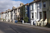 Victorian terraces in england — Stock Photo
