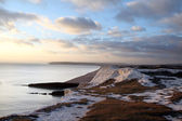 Chalk cliff hill seaside seven sisters england — Stock Photo