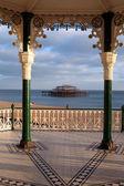 Brighton bandstand pier england — Stock Photo