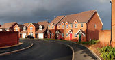Surburbia housing estate panoramic — Stock Photo