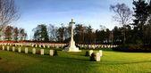 War memorial cemetery — Stock Photo
