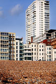 Brighton oteller ve plaj — Stok fotoğraf