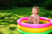 Paddling pool child — Stock Photo