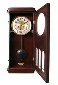 Clock vintage midnight isolated — Stock Photo