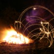 Bonfire night sparkler — Stock Photo