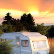 Stock Photo: Caravforest camping