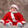 Father christmas child — Stock Photo #4500485