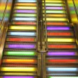 Stairs neon light — Stock Photo