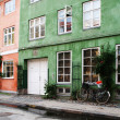 Colorful town houses in street in Copenhagen — Stock Photo
