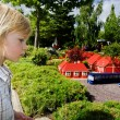 Child theme park legoland - Stock Photo