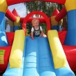 Child bouncy castle - Foto Stock