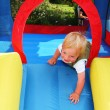 Child bouncy castle - Stock Photo