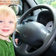 Child car steering wheel drive — Stock Photo #4503986