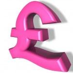 Pound pink money — Stock Photo #4504273