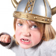 Viking child helmet isolated - ストック写真