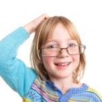 Thinking child glasses — Stock Photo #4508641