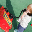 Child telephone playing — Stock Photo #4508859