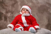 Father christmas child — Stock Photo