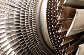 Turbine machine part blades — Stock Photo