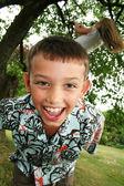 Child tween laugh — Stock Photo
