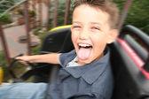 Rollercoaster ride scream — Stock Photo
