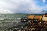 Energy waste sea turbines — Stock Photo