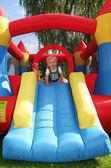 Child bouncy castle — Stock Photo