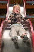 Child slide ride playground — Zdjęcie stockowe